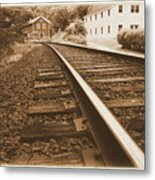 Tracks To Town Metal Print
