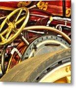 Traction Engine Steering Mechanism Metal Print