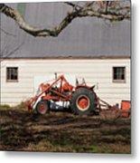 Tractor Barn Branch Metal Print