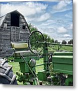 Tractor Barn Metal Print