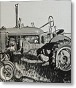 Tractor Metal Print by Mary Capriole