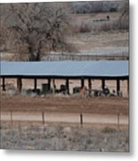 Tractor Port On The Ranch Metal Print
