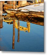 Tractor Reflections Metal Print