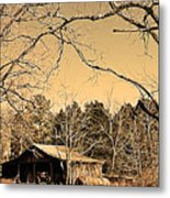 Tractor Shed Metal Print by Patricia Motley