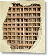 Traditional Bamboo Mud Wall Construction Metal Print