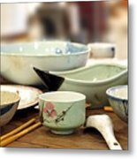 Traditional Chinese Dinner Table Metal Print