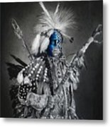 traditional dancer Blue Metal Print