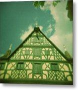 Traditional House Roth Germany Cross Process Holga Photography Metal Print