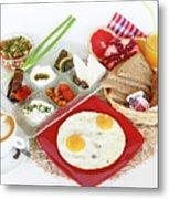 Traditional Israeli Breakfast Metal Print