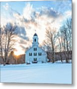 Traditional New England White Church Etna New Hampshire Metal Print