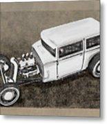 Traditional Styled Hot Rod Sedan Metal Print