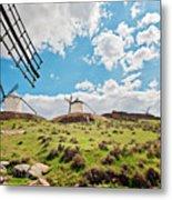 Traditional White Windmills  Metal Print
