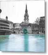 Trafalgar Square Fountain London 3 Metal Print