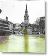 Trafalgar Square Fountain London 3c Metal Print
