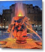 Trafalgar Square Fountain Metal Print