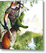 Trail Blazing Fox Metal Print