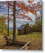 Trail Cabin Metal Print