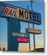 Trail Motel At Sunset Metal Print