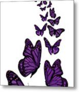 Trail Of The Purple Butterflies Transparent Background Metal Print