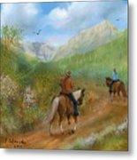 Trail Ride In Sabino Canyon Metal Print