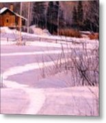 Trail To The Cabin Metal Print