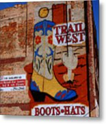 Trail West Mural Metal Print