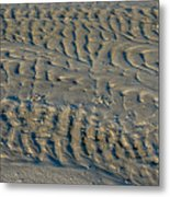 Trails In The Sand Metal Print