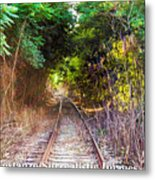 Trails Of Tracks Metal Print
