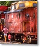 Train - Car - Pennsylvania Northern Region Caboose 477823 Metal Print