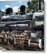 Train - Engine - 385 - Baldwin 2-8-0 Consolidation Locomotive Metal Print
