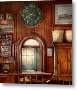 Train - Office - The Ticket Takers Window Metal Print