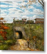Train - Arlington Nj - Enjoying The Autumn Day - 1890 Metal Print
