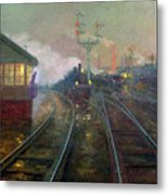 Train At Night Metal Print