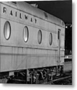 Train Car, Black And White Metal Print