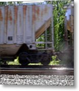 Train Cars With Light Spots Metal Print