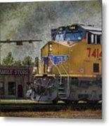 Train Coming Through Metal Print