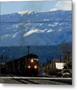 Train Entering Truckee California Metal Print