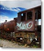 Train Graveyard Uyuni Bolivia 16 Metal Print