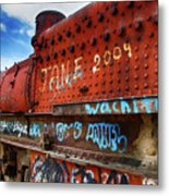 Train Graveyard Uyuni Bolivia 17 Metal Print