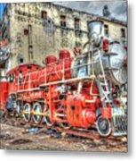 Train In Havana Metal Print
