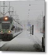Train In Helsinki Metal Print
