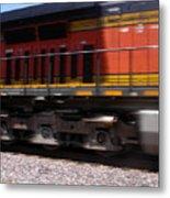 Train In Motion Metal Print
