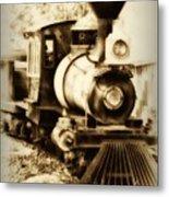 Train Keeps A Rolling Metal Print