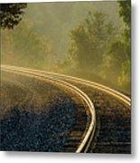 Train Lines Metal Print
