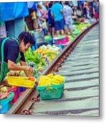Train Market 2323 Metal Print
