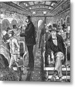 Train: Passenger Car, 1876 Metal Print