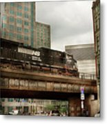 Train - Pittsburg Pa - The Industrial City Metal Print