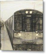 Train Sketch Metal Print