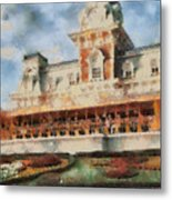 Train Station At Magic Kingdom Metal Print