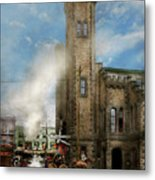 Train Station - Look Out For The Train 1910 Metal Print